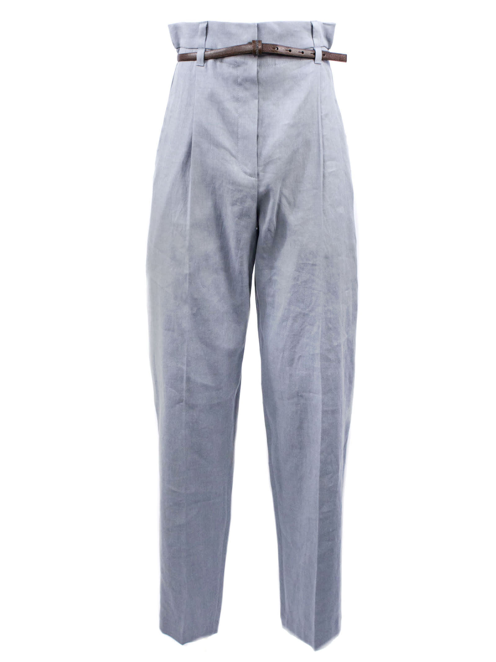 Brunello Cucinelli Cotton And Linen Trousers