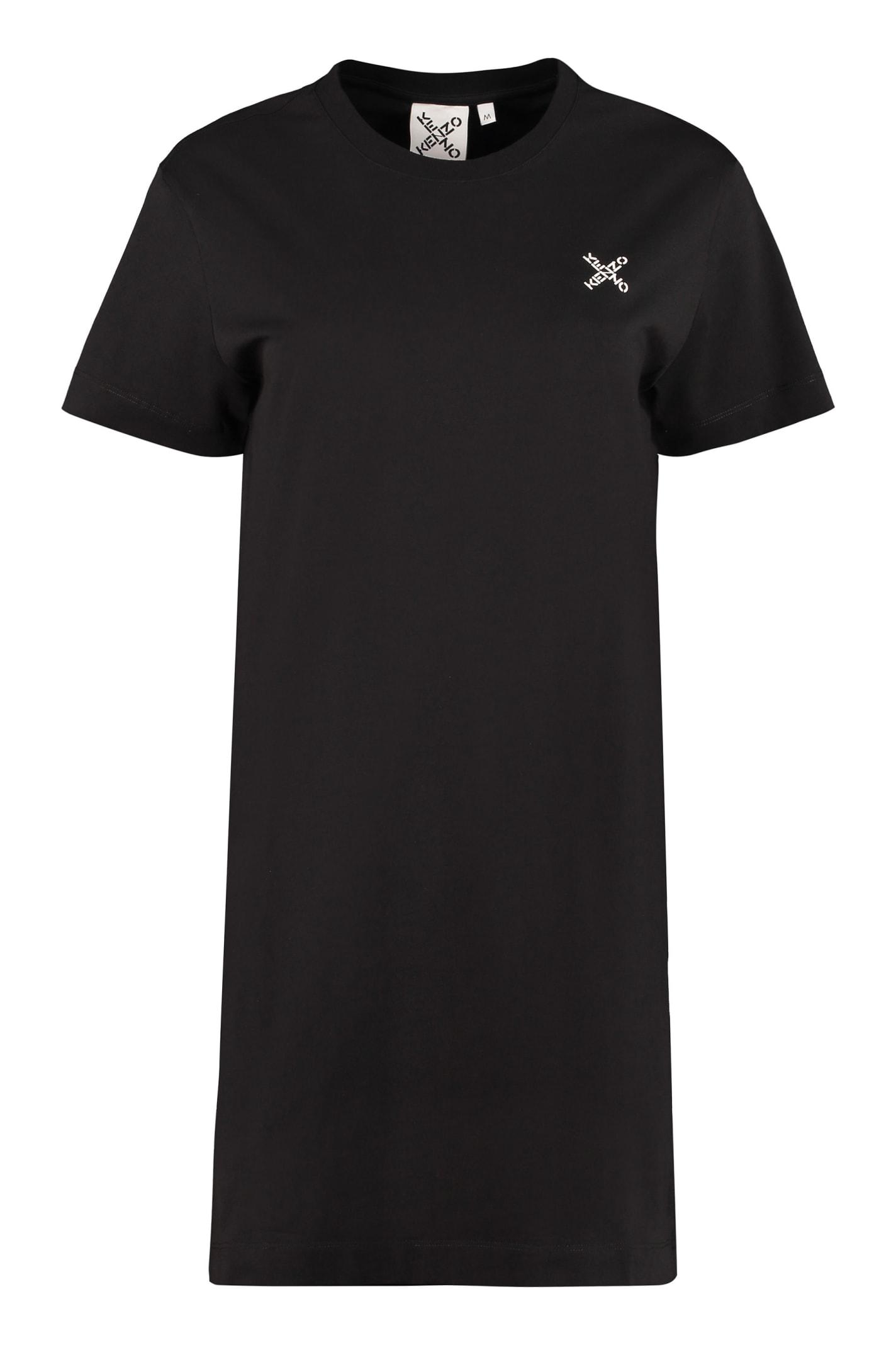 Buy Kenzo Cotton T-shirt Dress online, shop Kenzo with free shipping