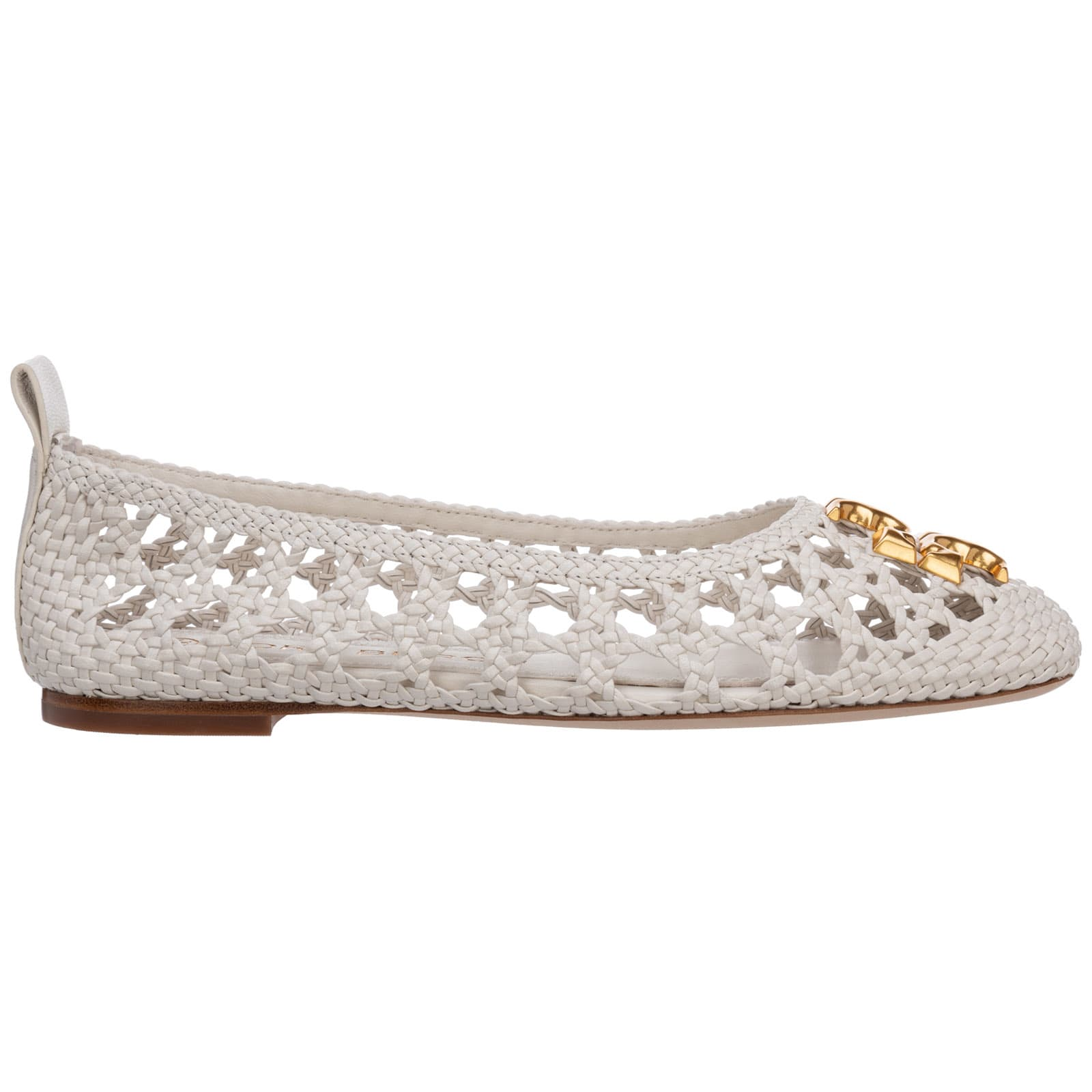 Buy Tory Burch Eleanor Ballet Pumps online, shop Tory Burch shoes with free shipping