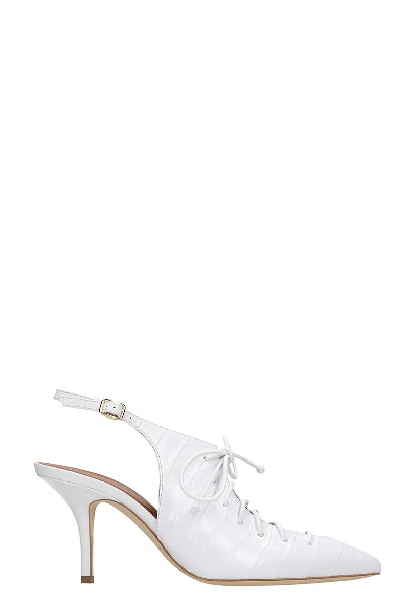 Malone Souliers Alessandra Pumps In White Leather