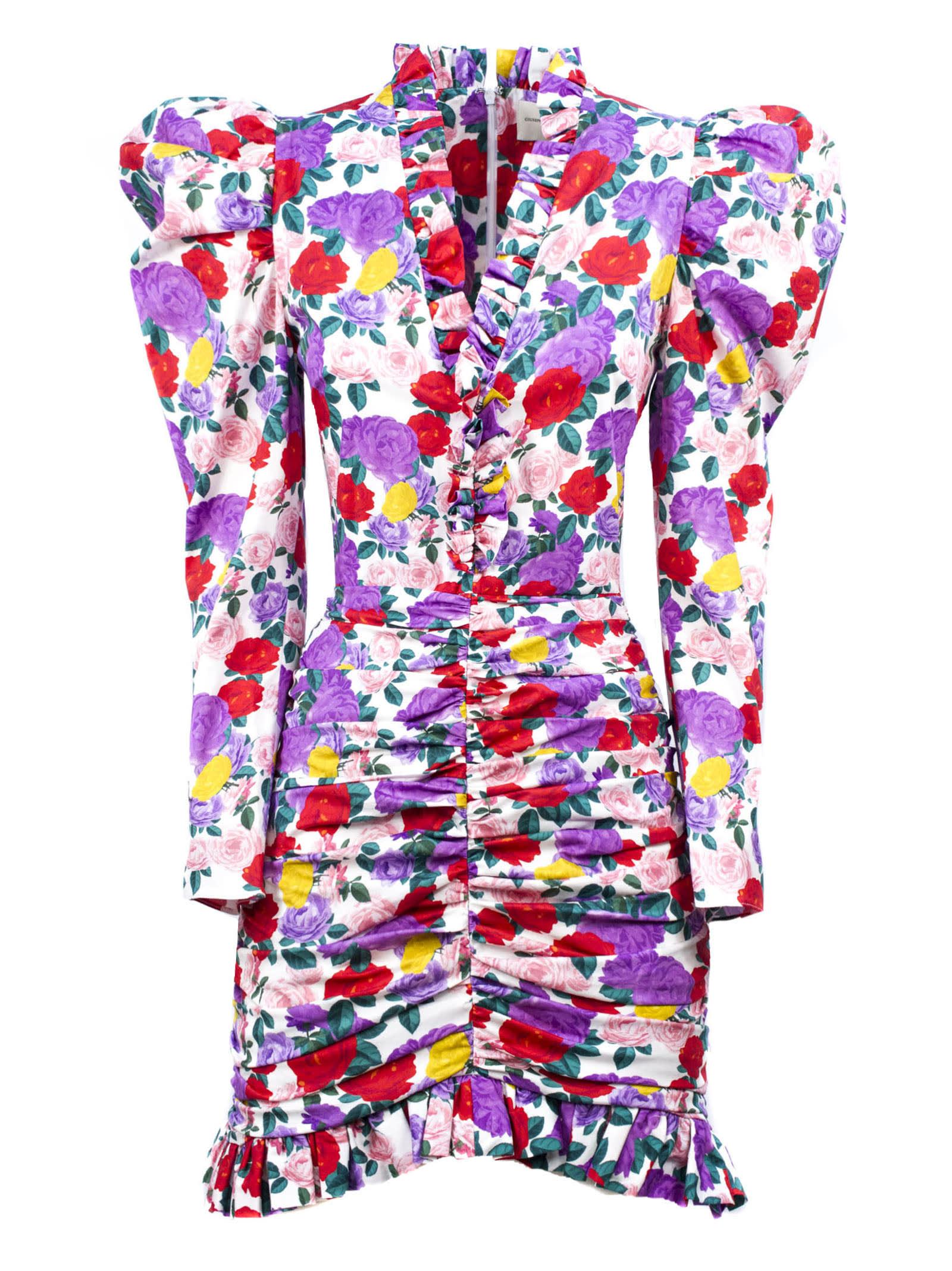 Buy Giuseppe di Morabito Multicolored Silk Blend Dress online, shop Giuseppe di Morabito with free shipping