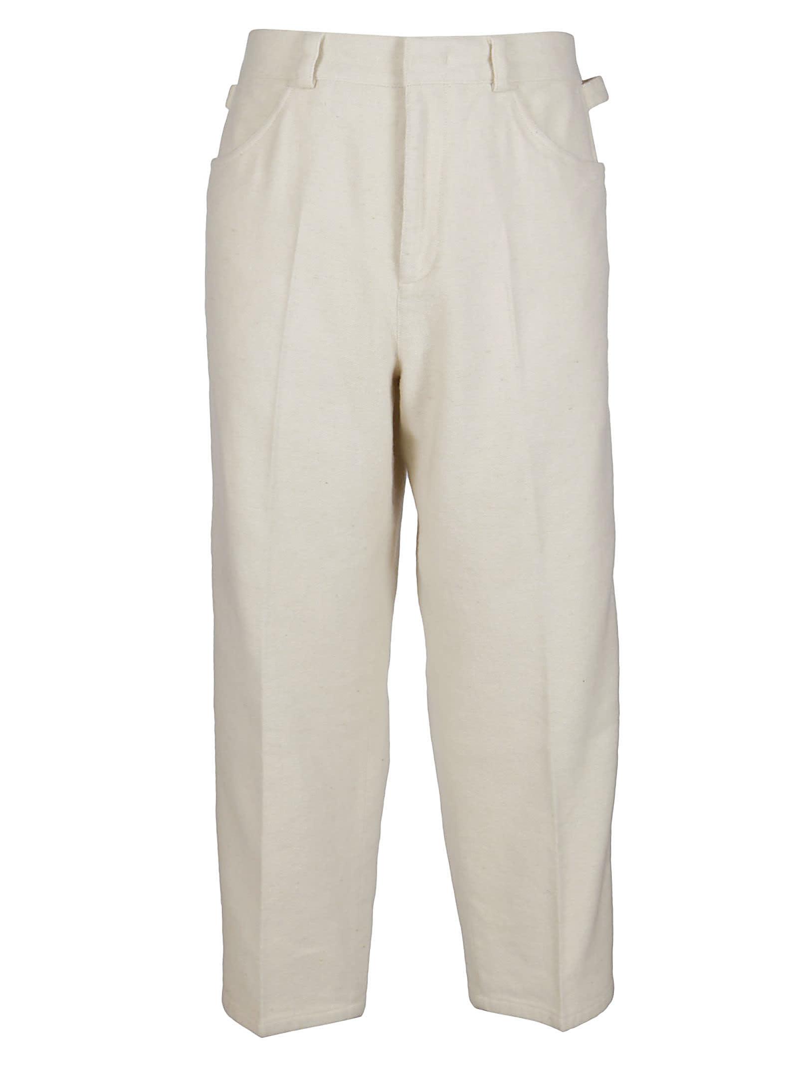 Jil Sander Ivory Wool-blend Trousers