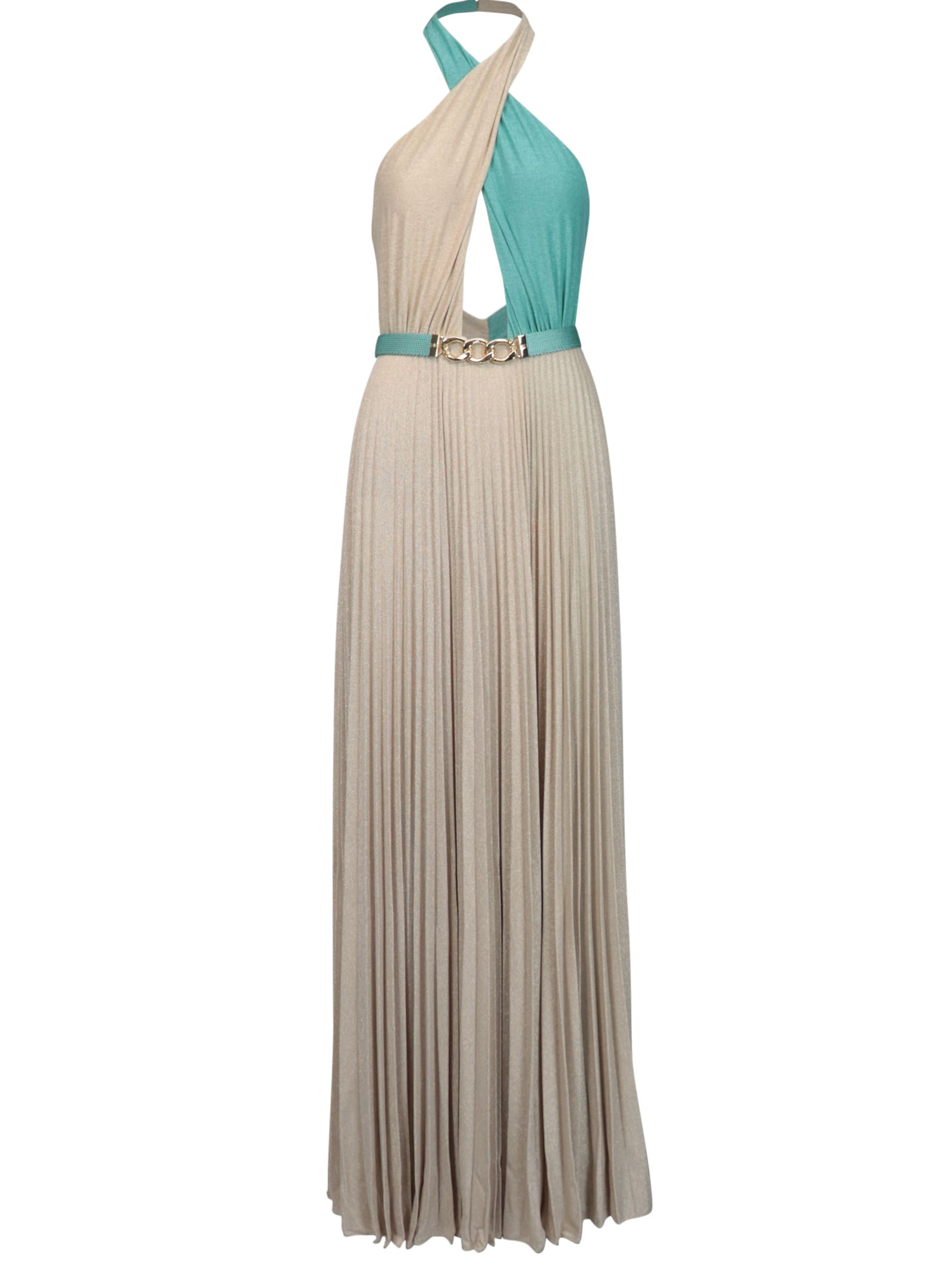 Buy Elisabetta Franchi Celyn B. Long Jersey Bicolor Dress online, shop Elisabetta Franchi Celyn B. with free shipping