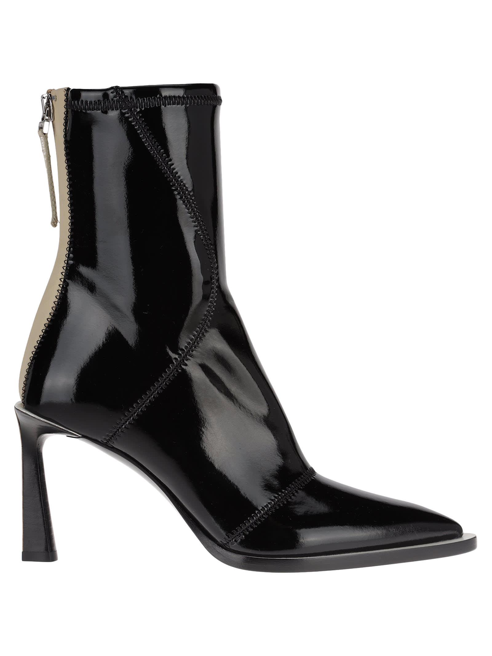 Black Glossy Pointed Toe Stiletto Heels