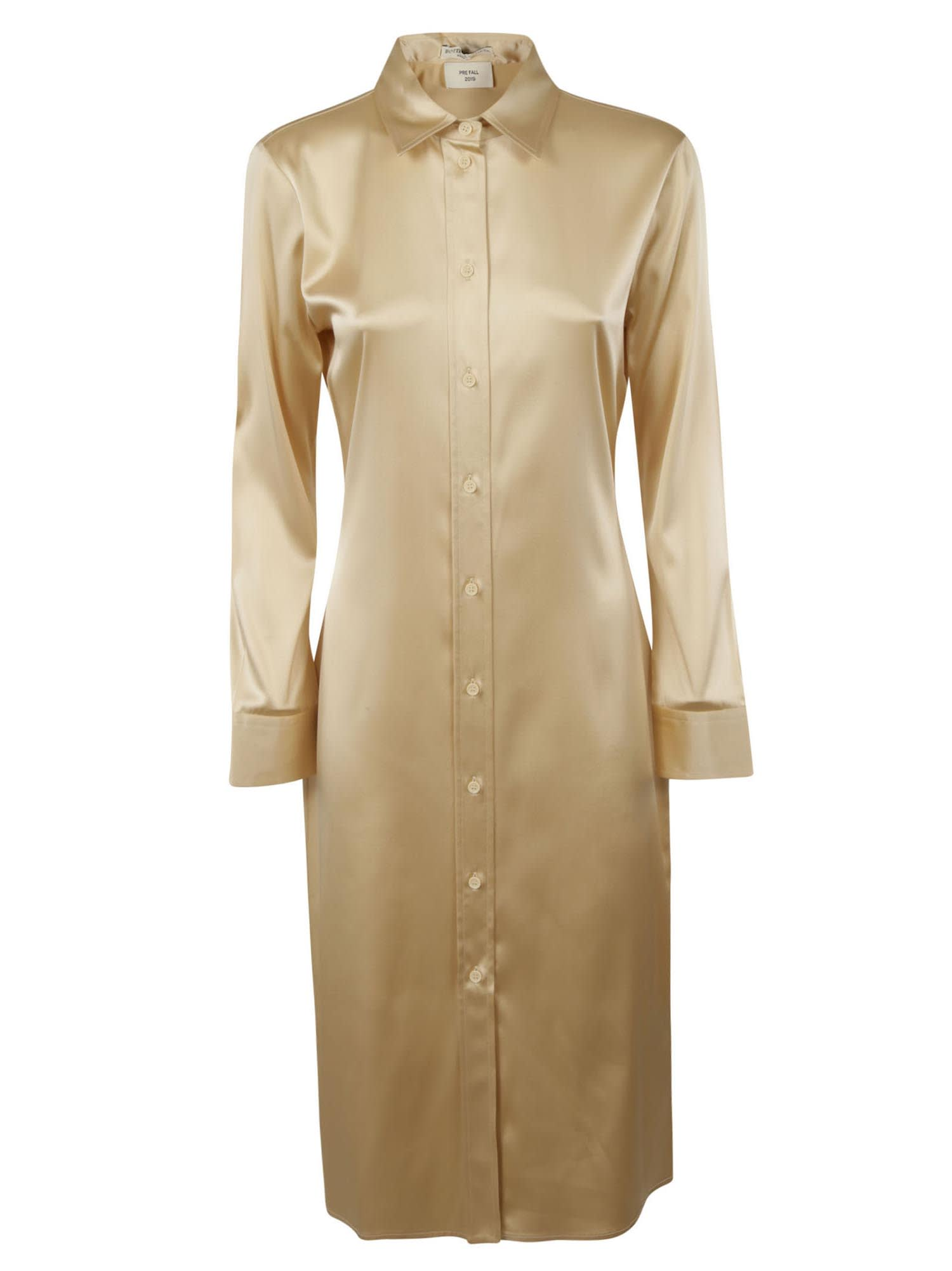 Bottega Veneta Light Satin Stretch Dress