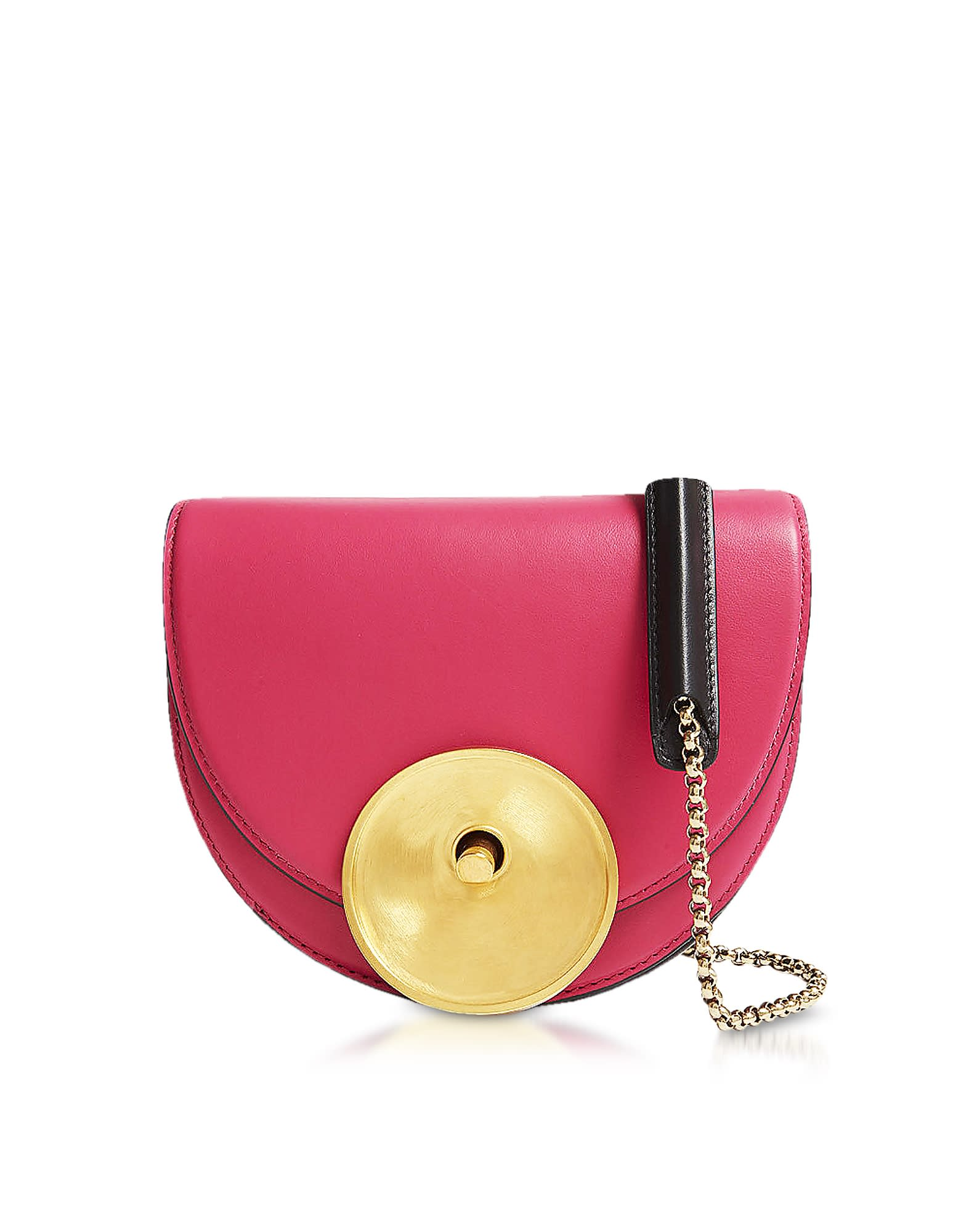 attractive & durable cheap for discount official photos Best price on the market at italist | Marni Marni Misty Rose Black And Acid  Leather Monile Crossbody Bag