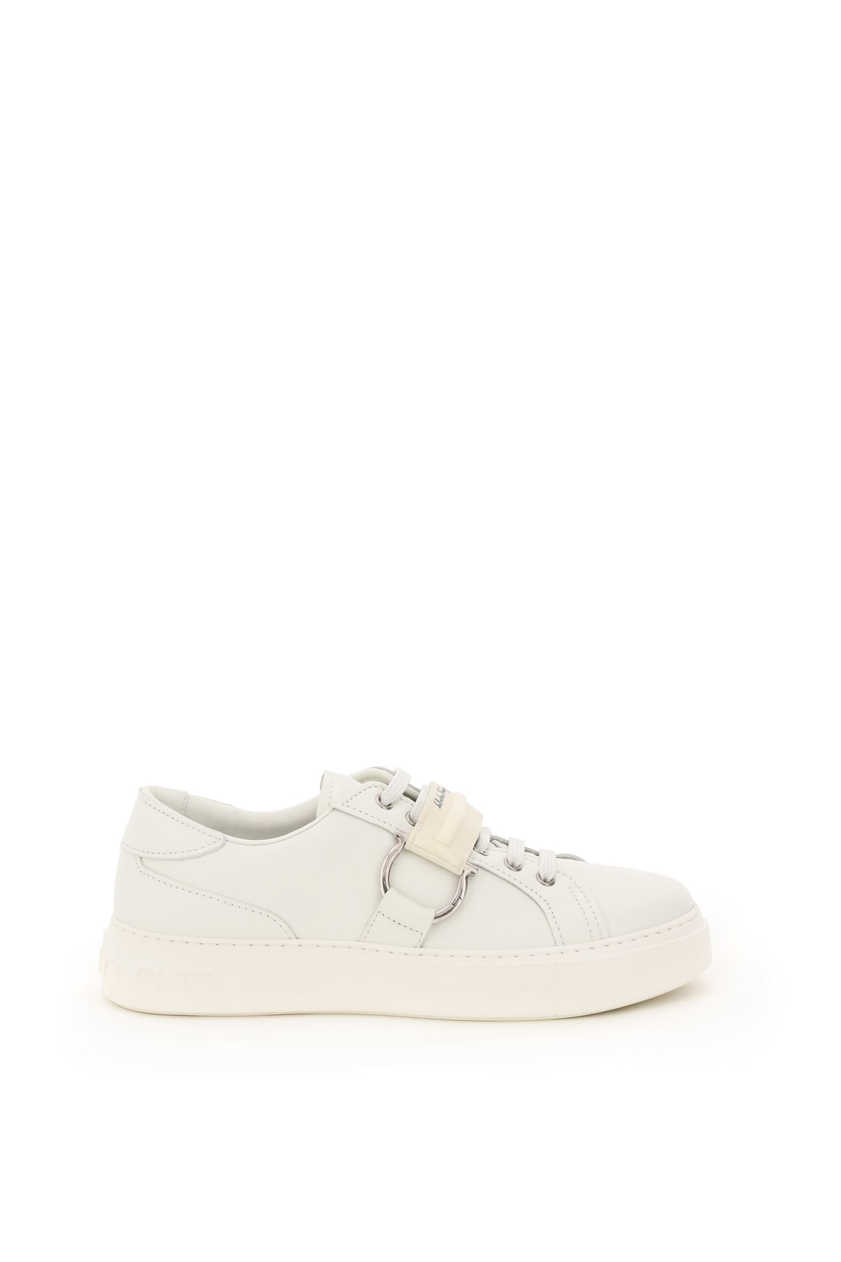 Salvatore Ferragamo Leathers PHARREL LEATHER SNEAKERS