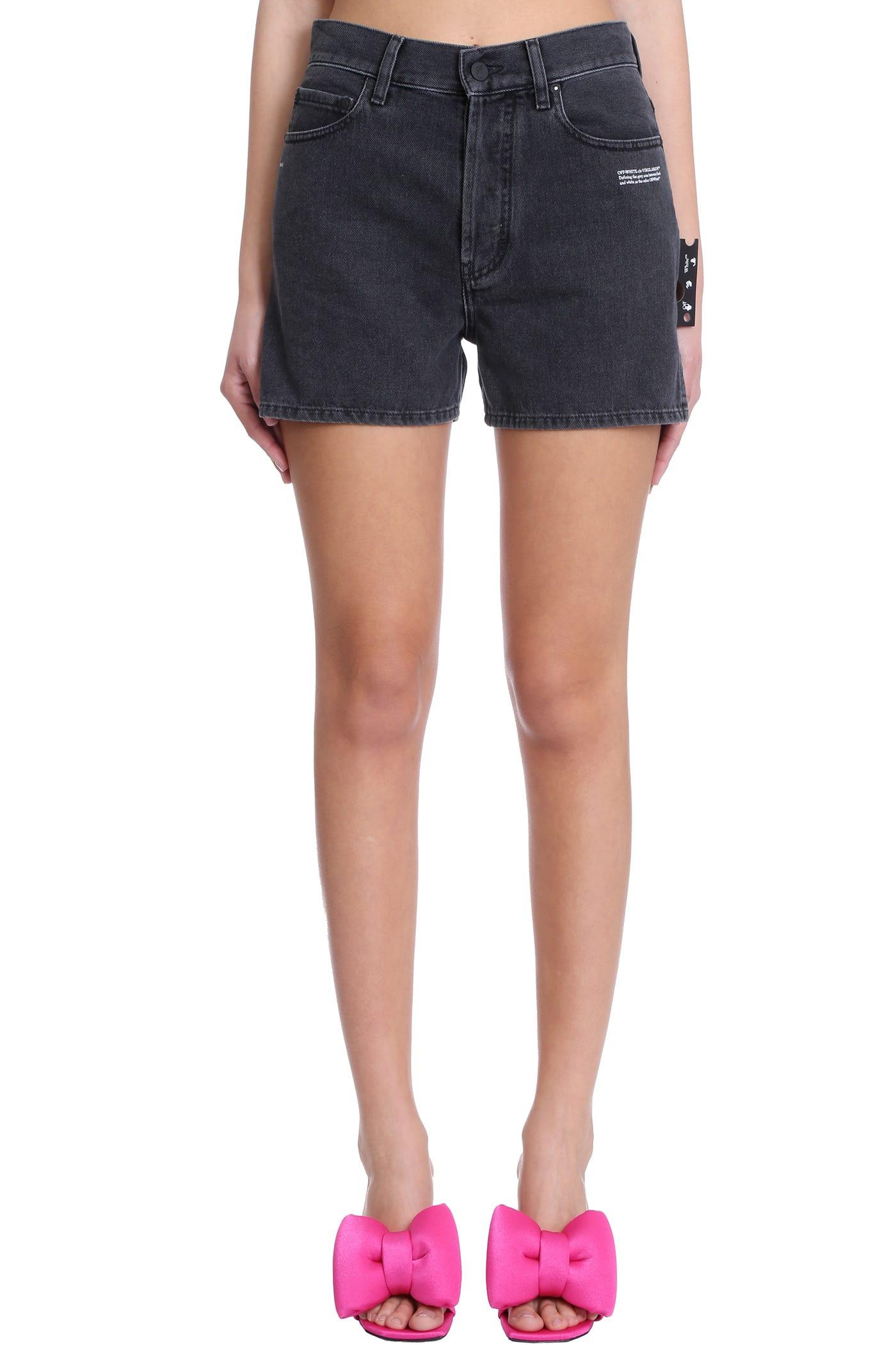 Off-White Shorts SHORTS IN GREY DENIM