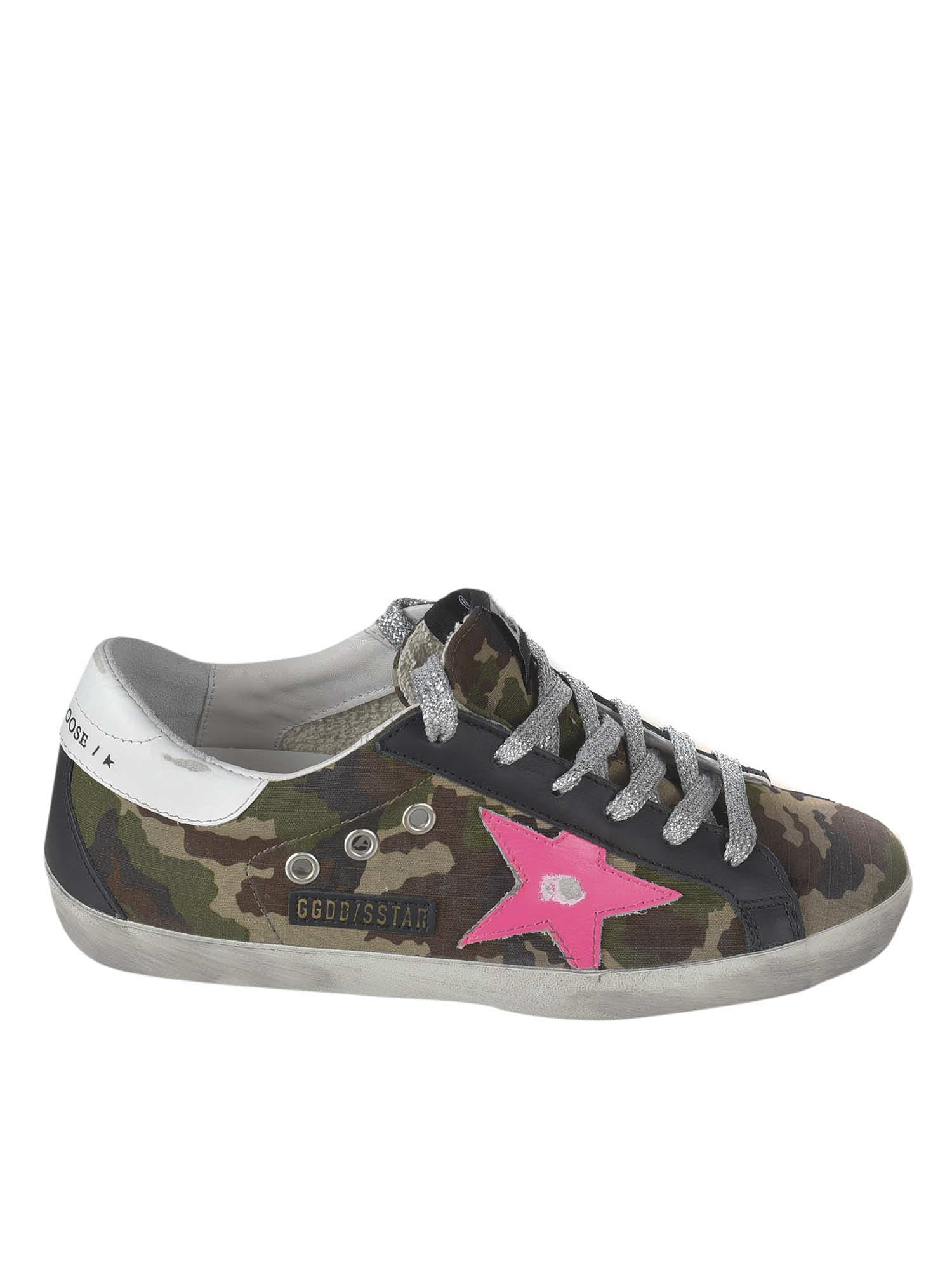 Buy Golden Goose Camouflage Superstar Sneakers online, shop Golden Goose shoes with free shipping