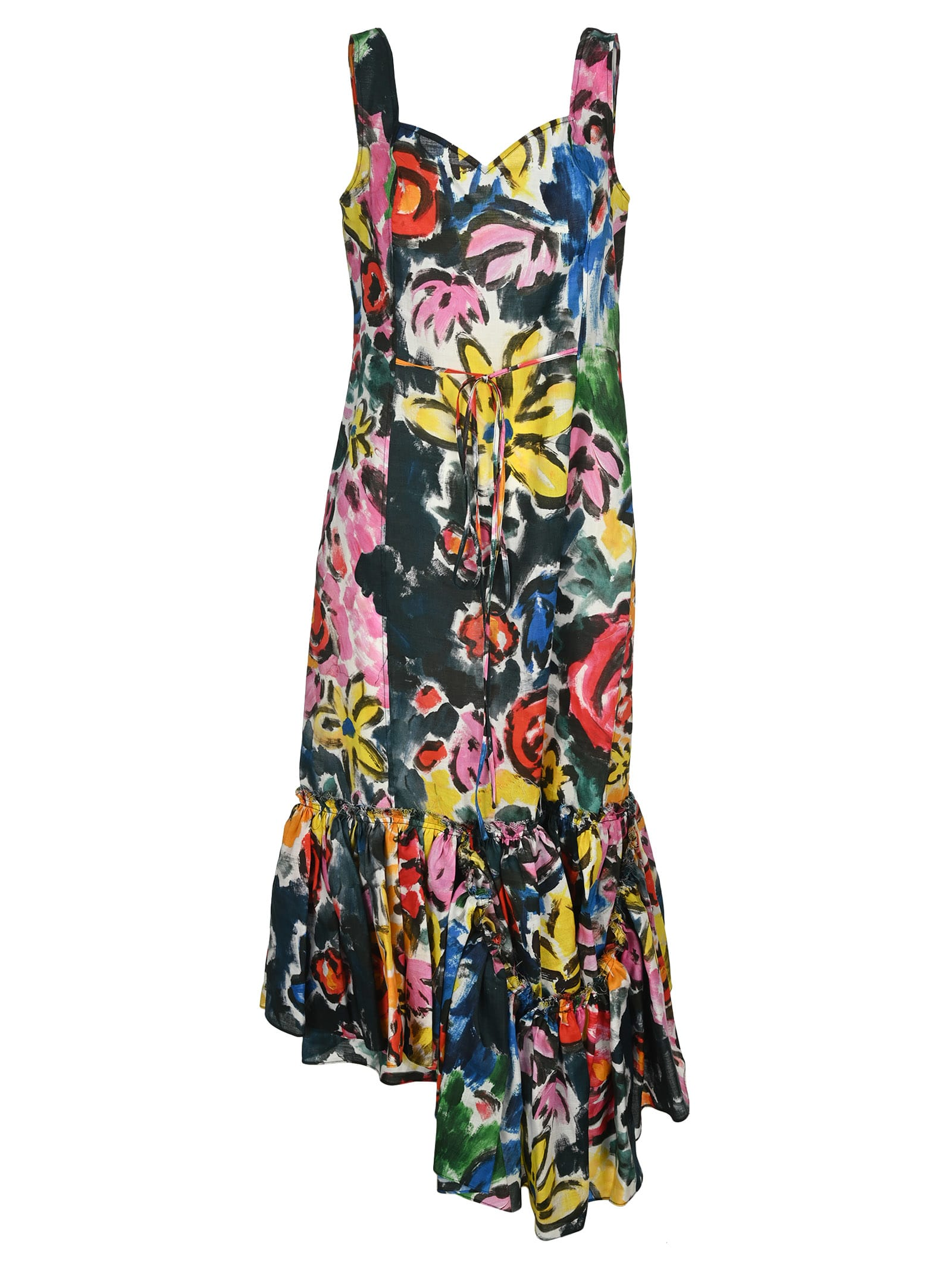Buy Marni Floral Print Maxi Dress online, shop Marni with free shipping