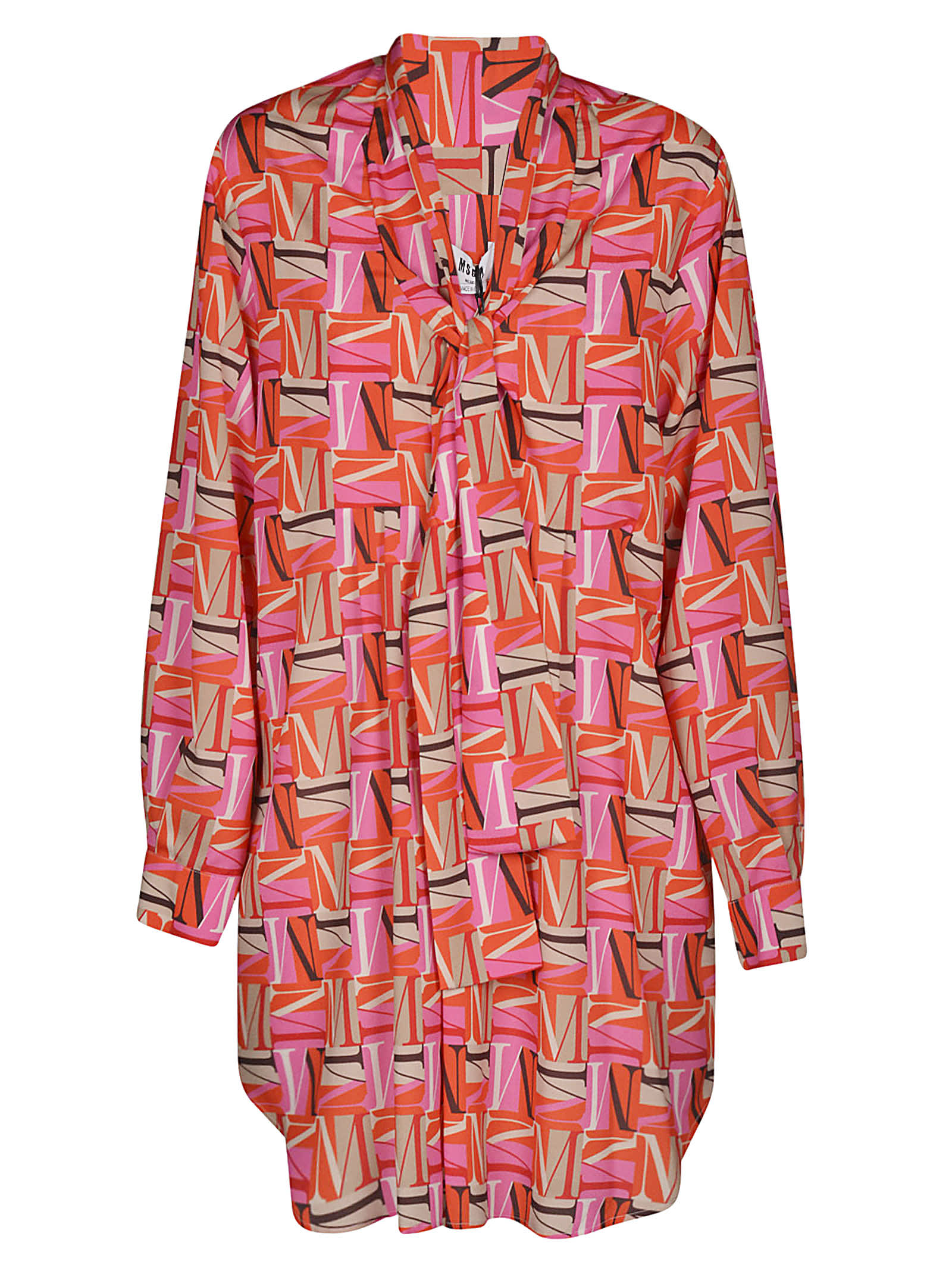 Buy MSGM All-over Logo Print Oversized Dress online, shop MSGM with free shipping