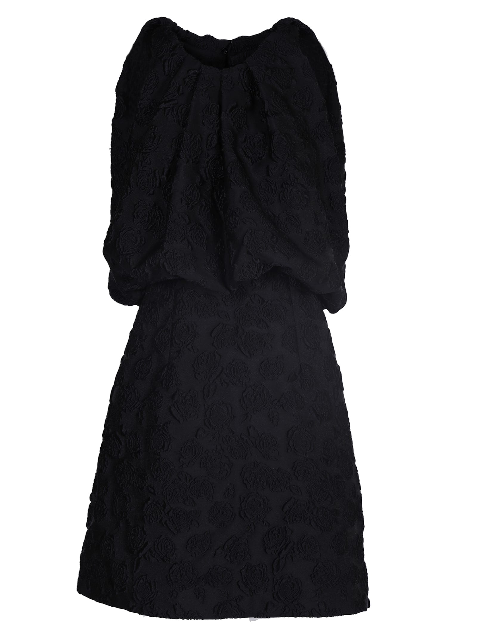 Calvin Klein Embroidered Brocade Dress