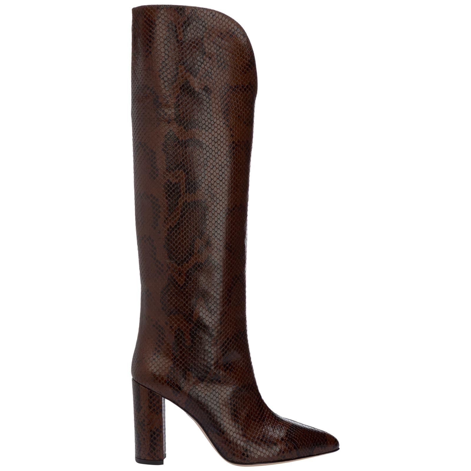 Paris Texas Black Orchid Knee High Boots