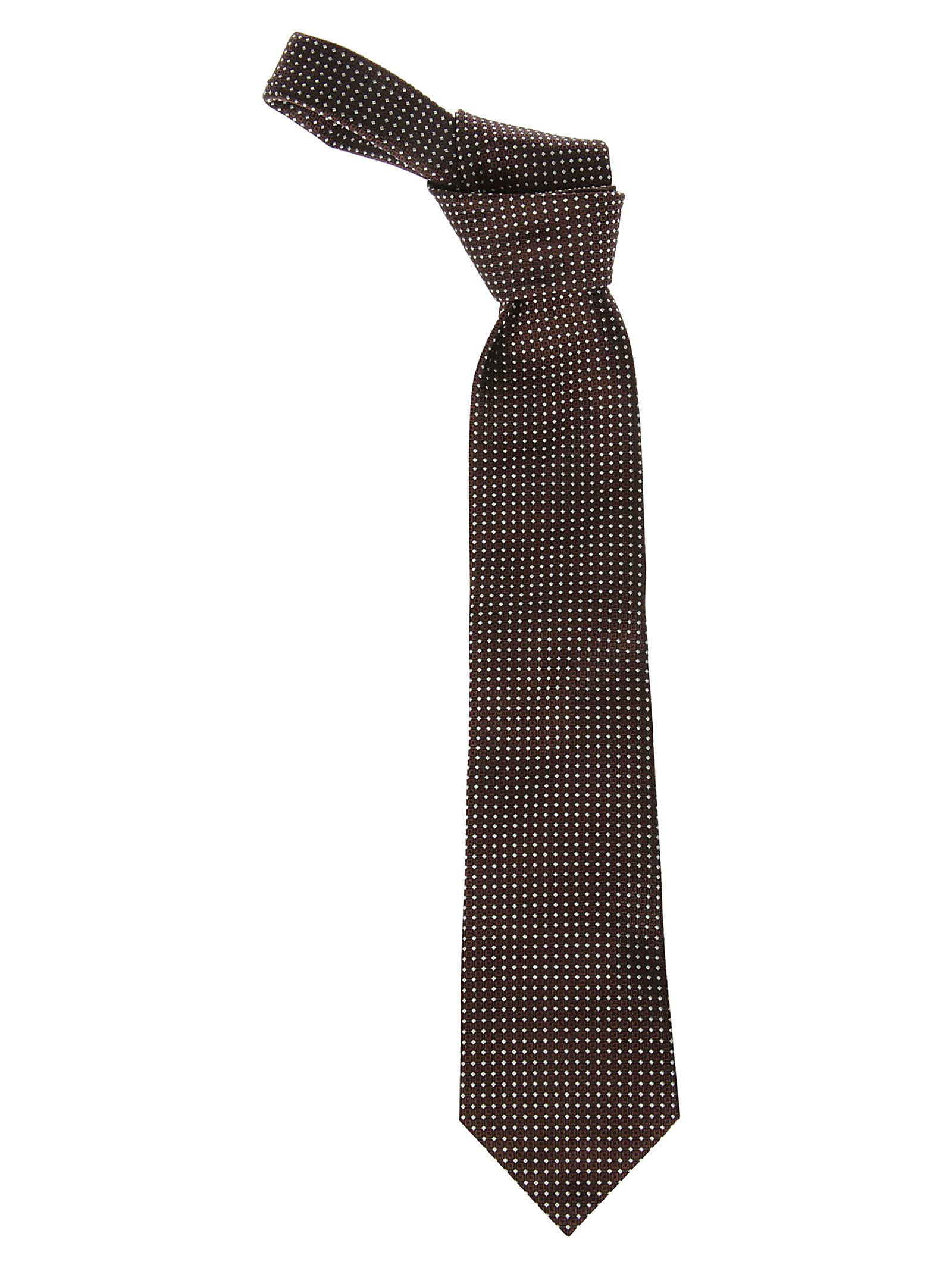 Ermenegildo Zegna Brown Silk Tie