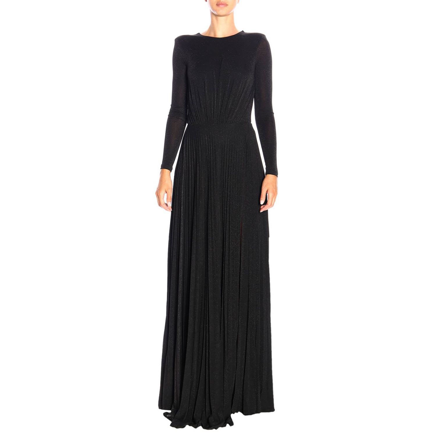 Elisabetta Franchi Dress Elisabetta Franchi Long Dress In Lurex Fabric With Chain