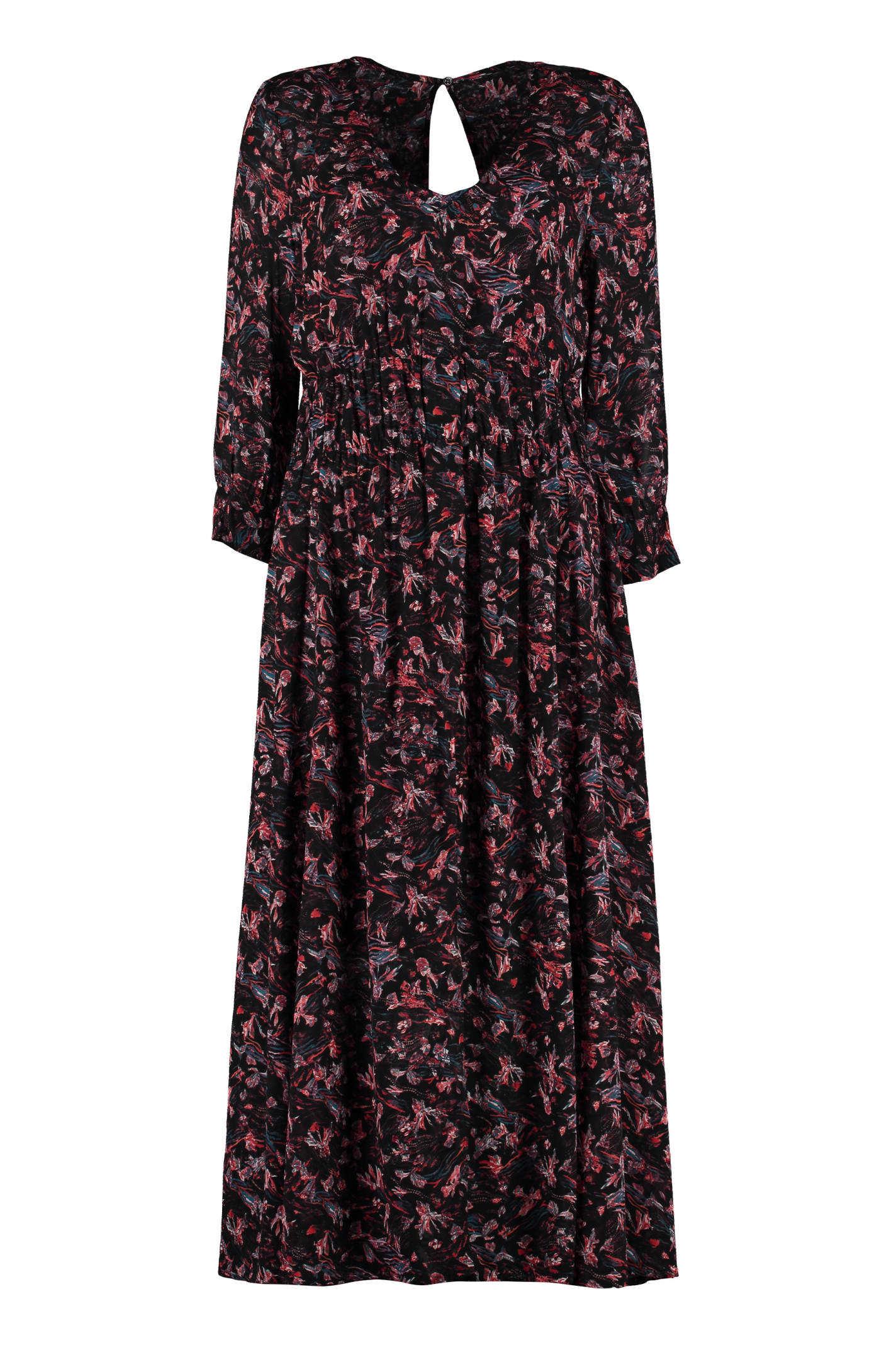 IRO Sirthy Floral Print Crepe Dress
