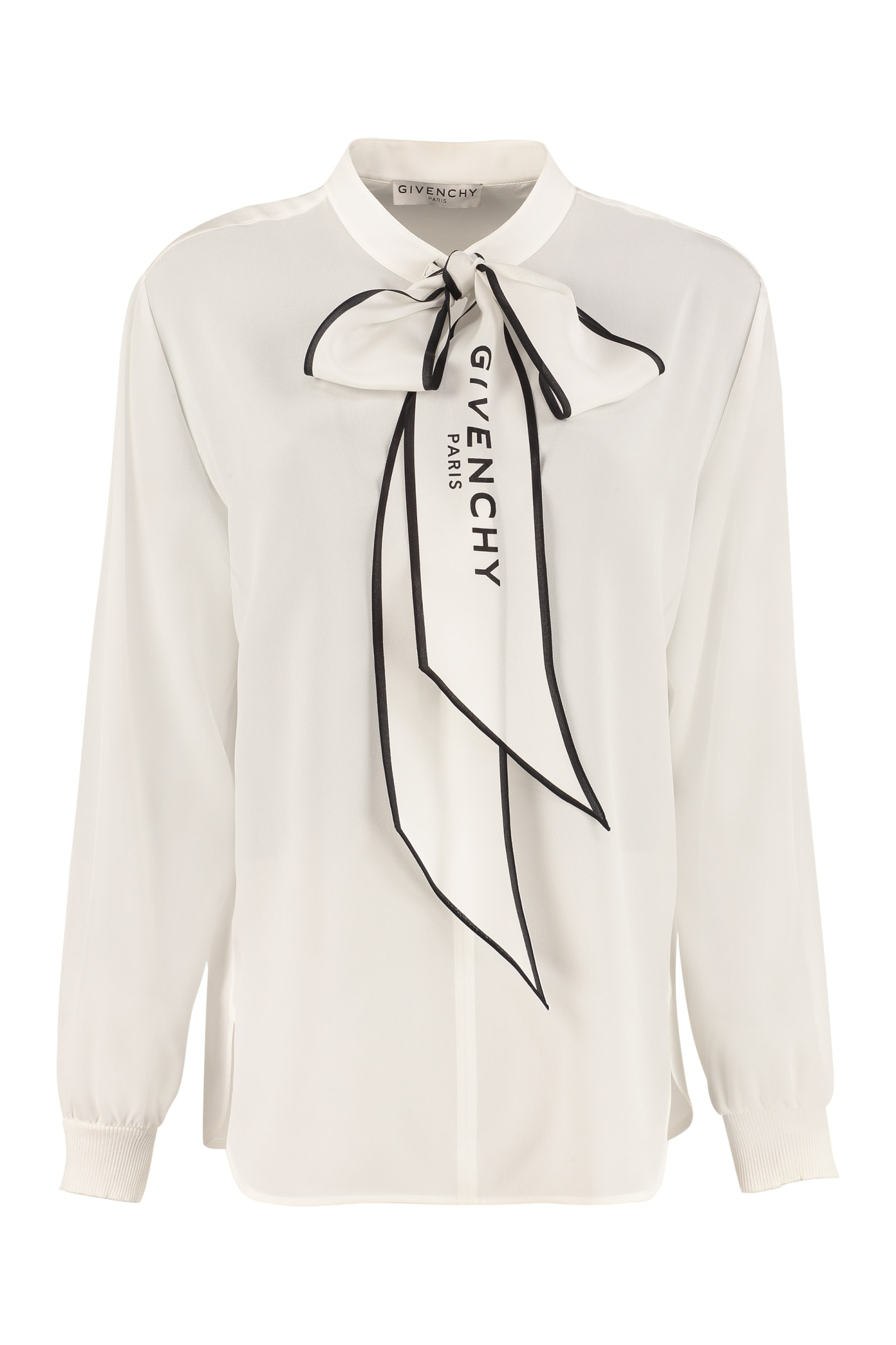 Givenchy Pussy-bow Silk Blouse