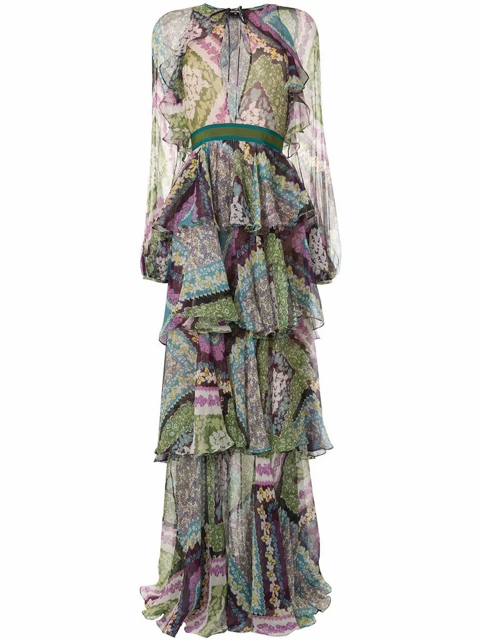Buy Dsquared2 Multicoloured Silk Blend Dress online, shop Dsquared2 with free shipping