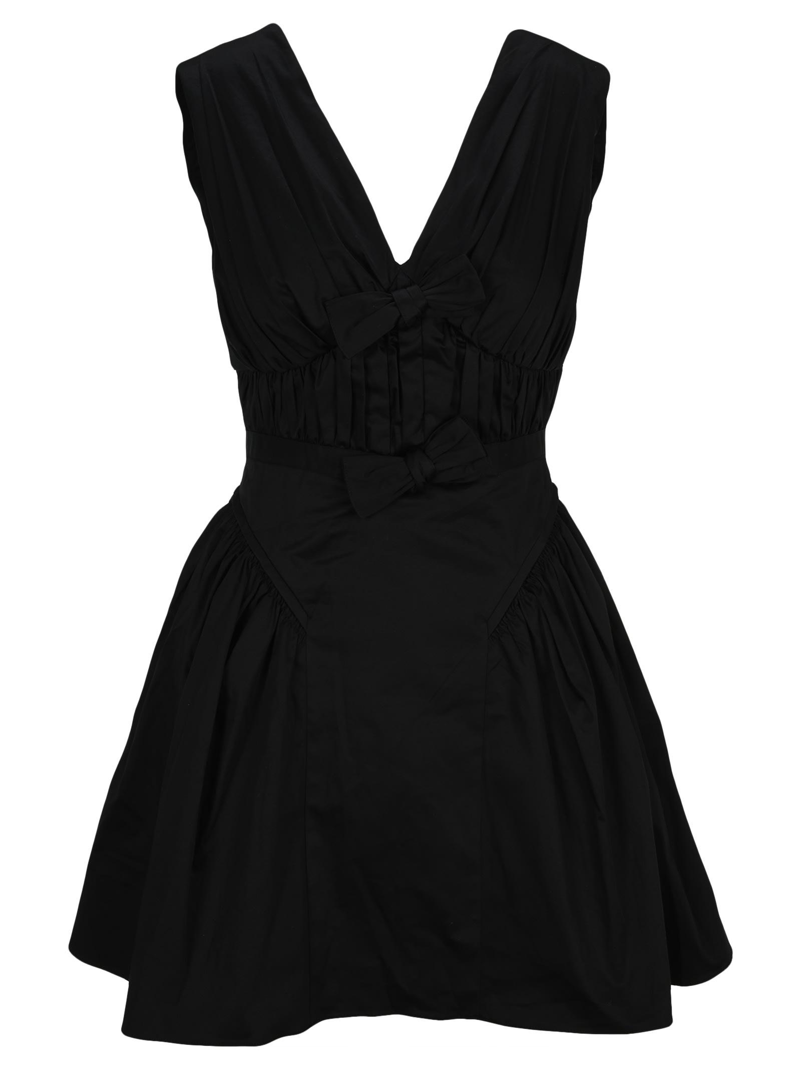 self-portrait Self Portrait Black Bow Detail Mini Dress