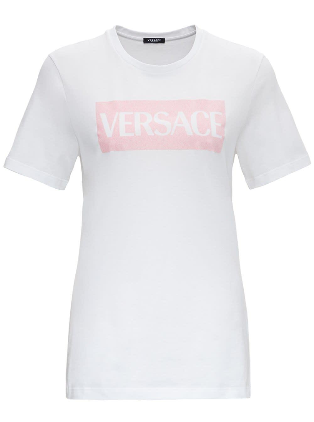 Versace SHORT SLEEVES FRONT PRINTED TEE