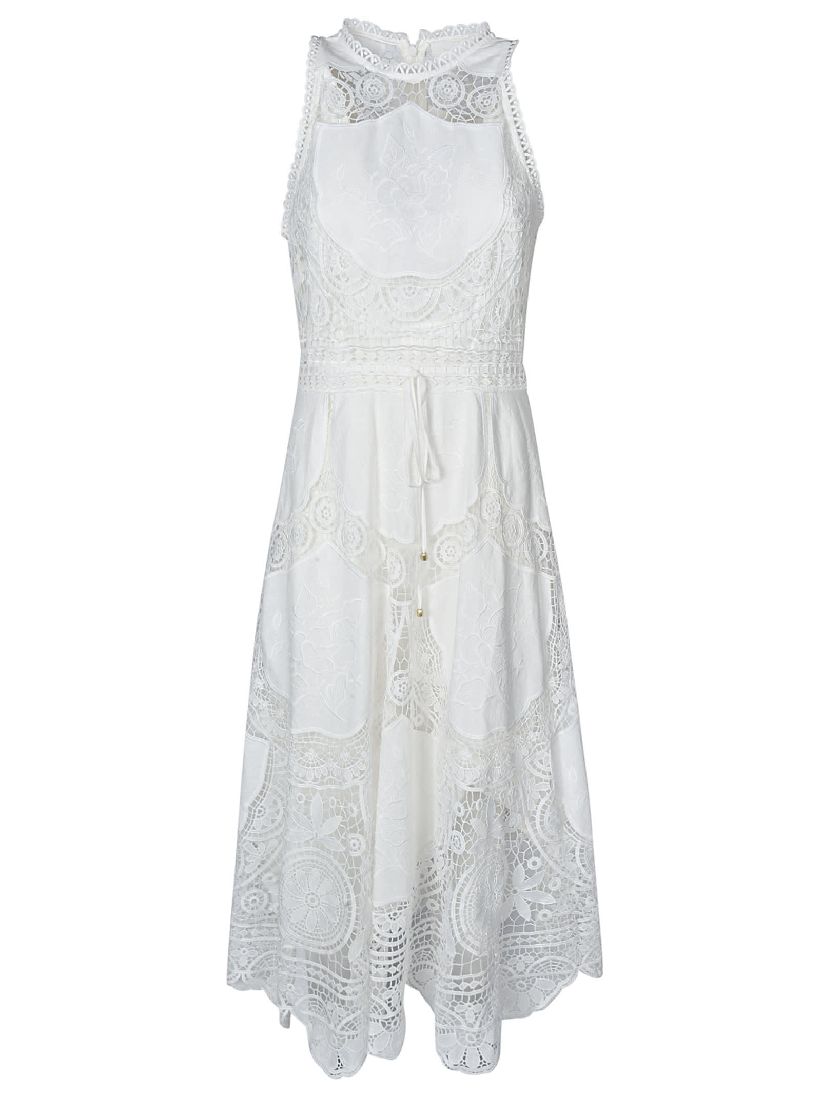 Buy Back-zipped Sleeveless Dress online, shop Zimmermann with free shipping