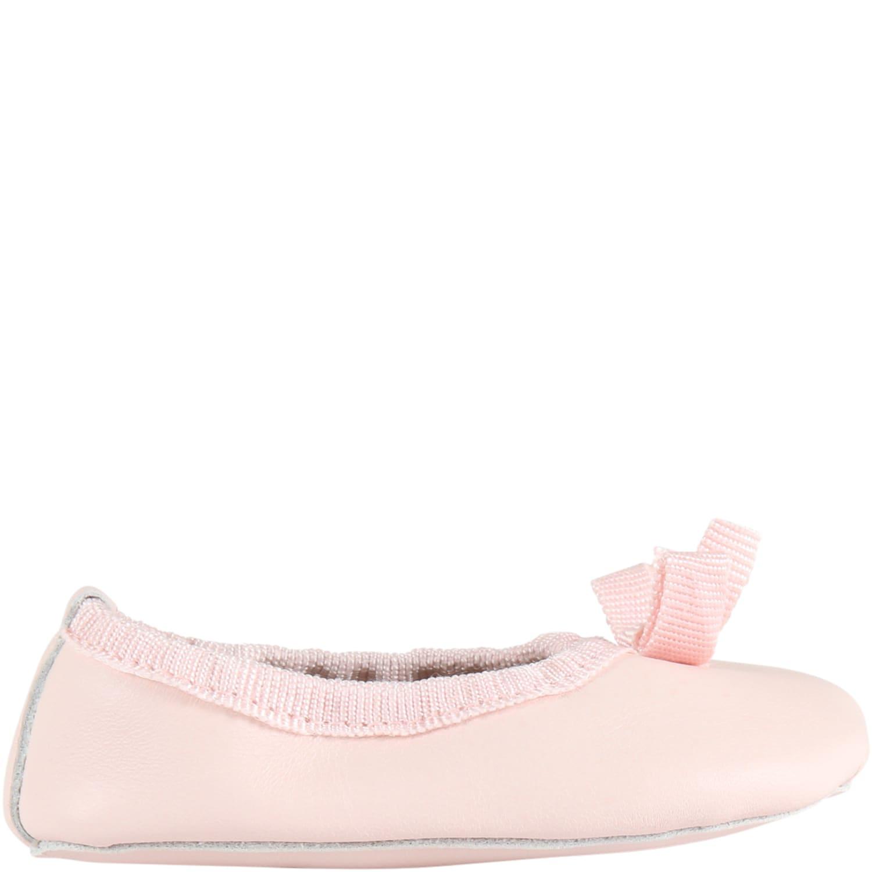 Pink Ballerina Flats For Babygirl