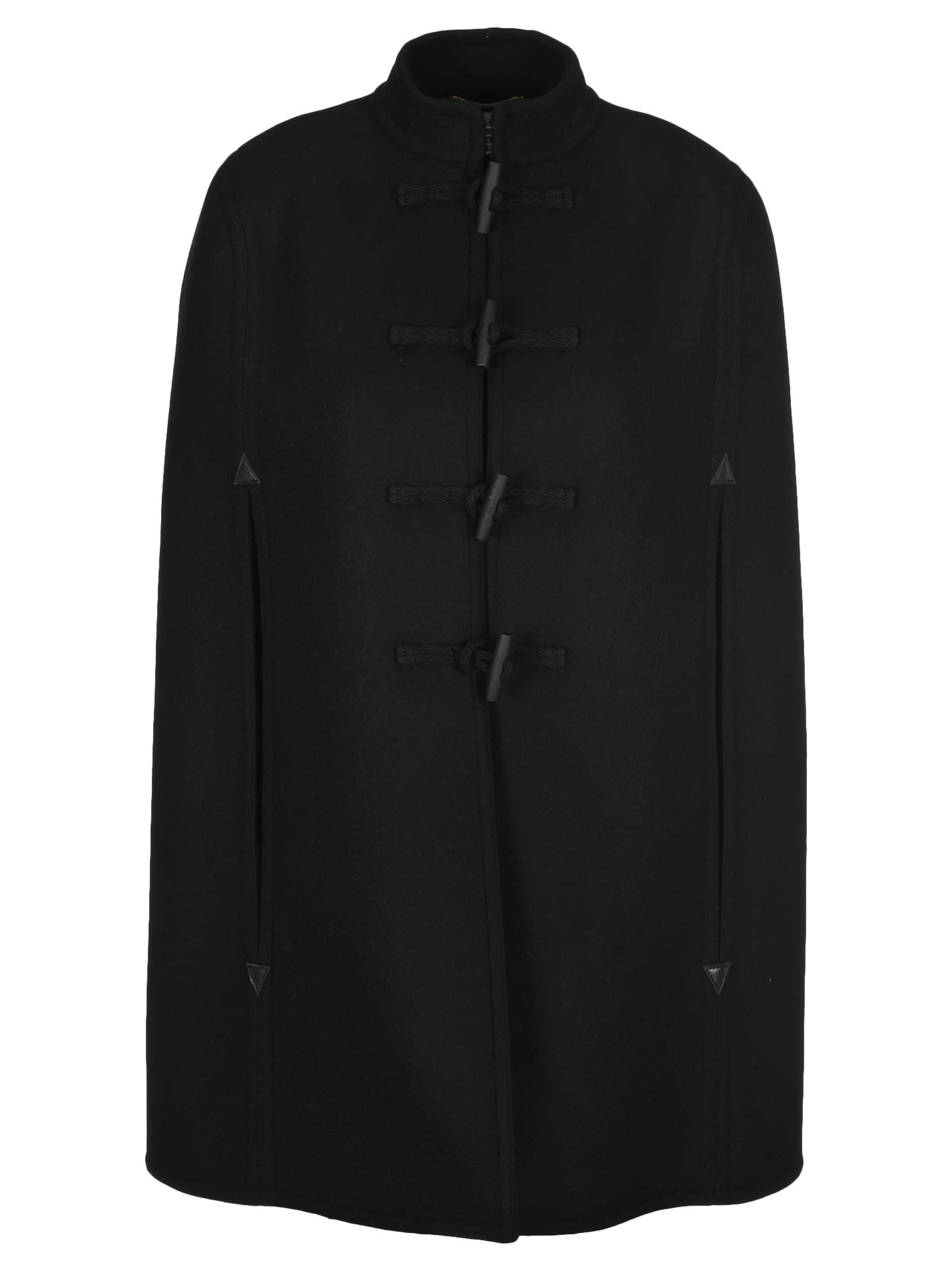 Saint Laurent Wool Duffle Coat Cape
