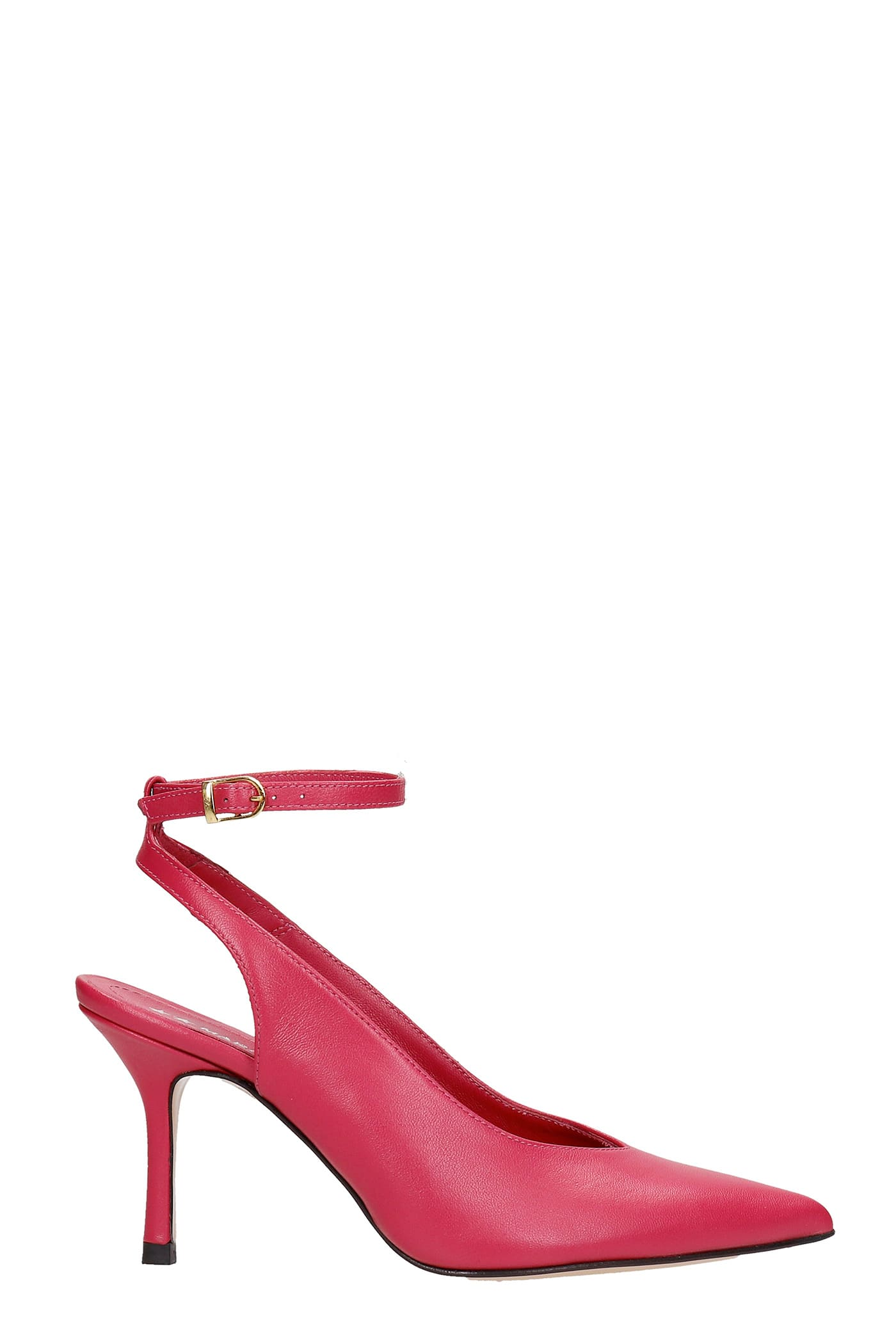 Mabel Pumps In Fuxia Leather