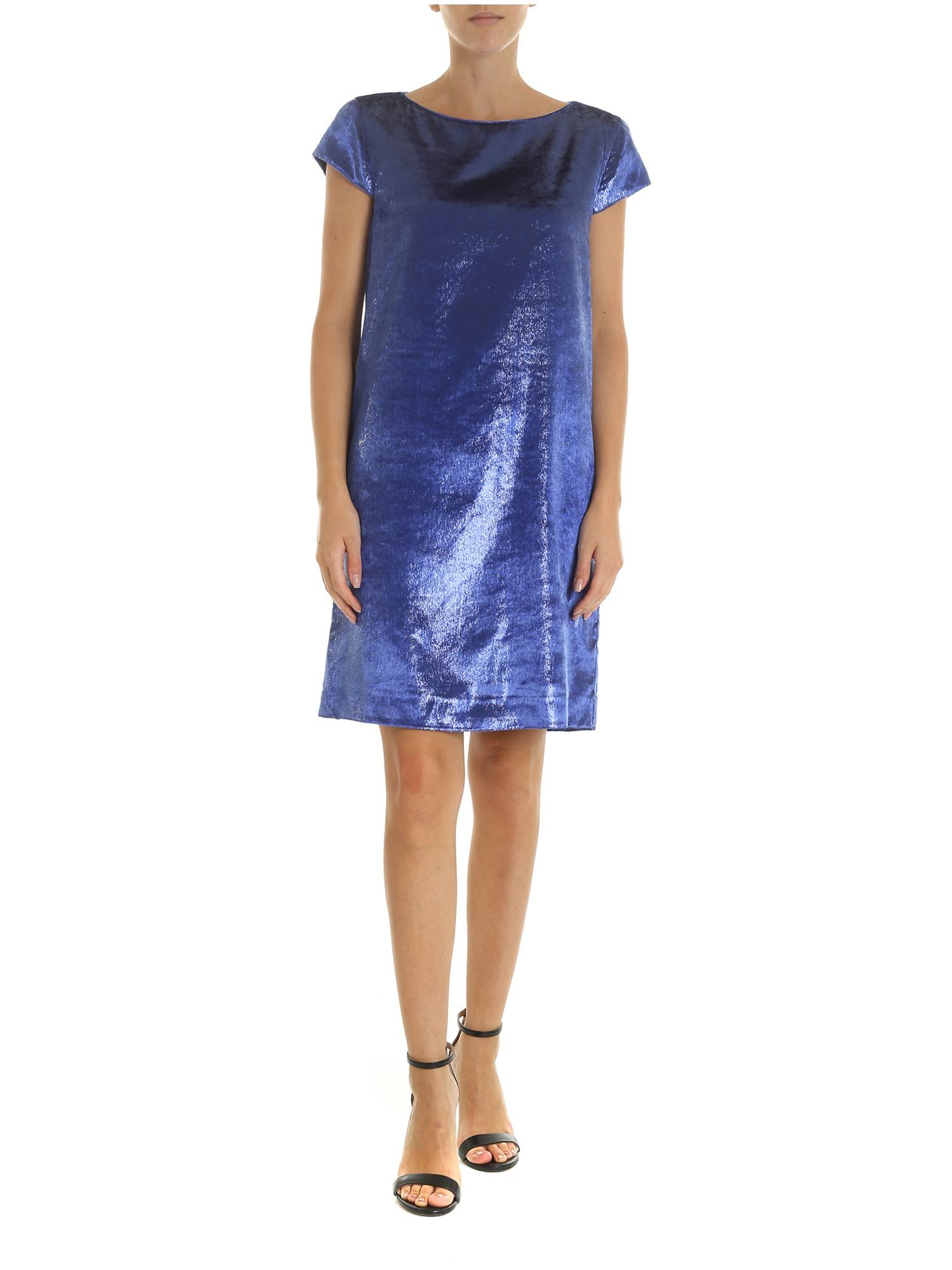 Love Moschino Blue Lurex Dress