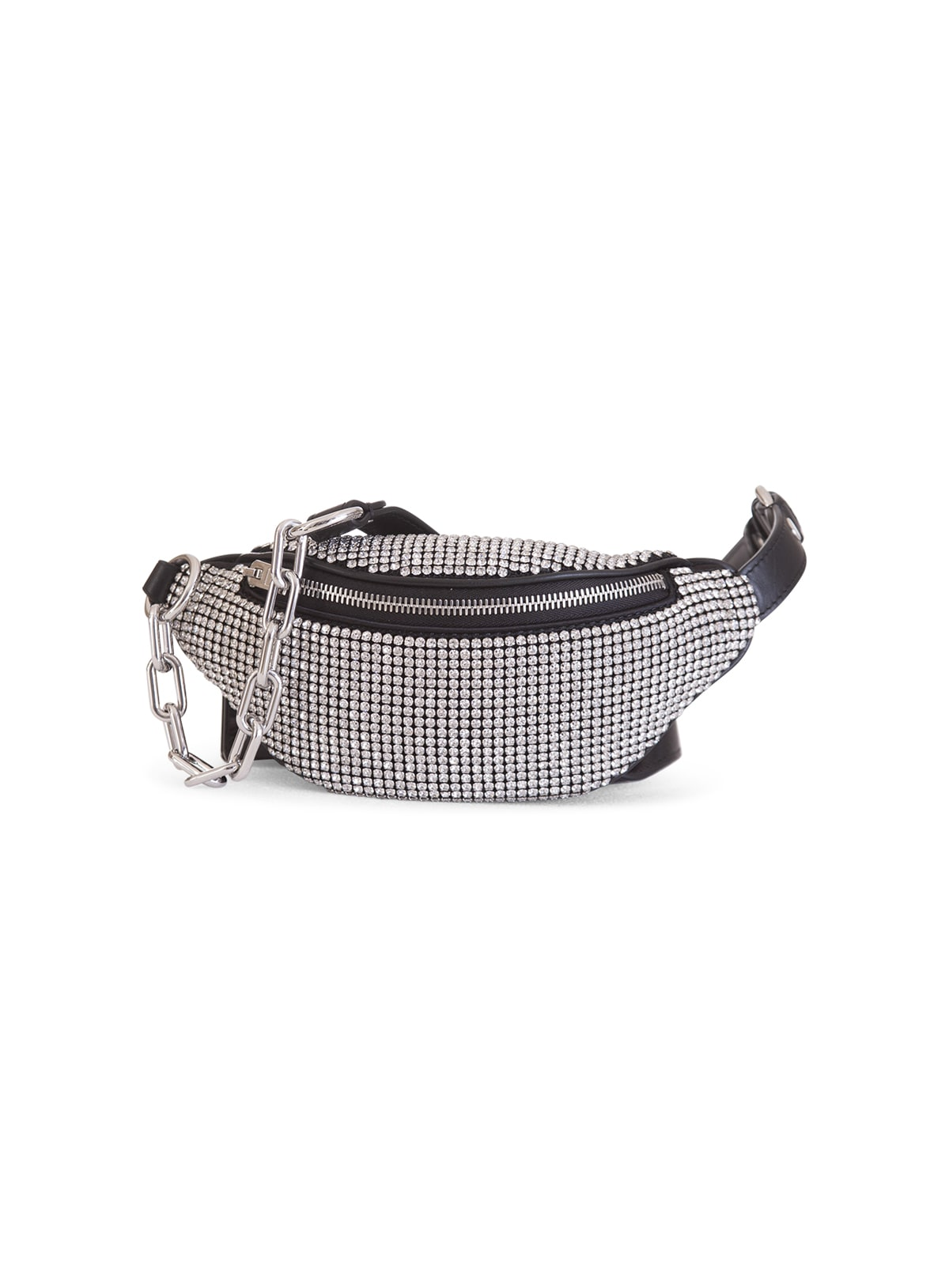 Alexander Wang Attica Rhinestone Mini Fanny Pack In Bianco