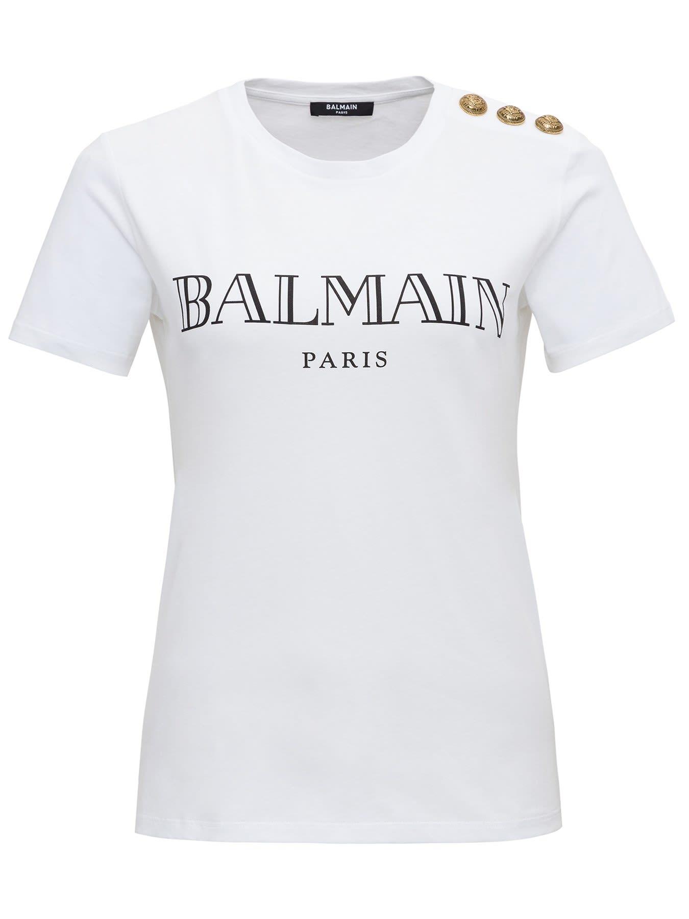 Balmain Tee With Logo