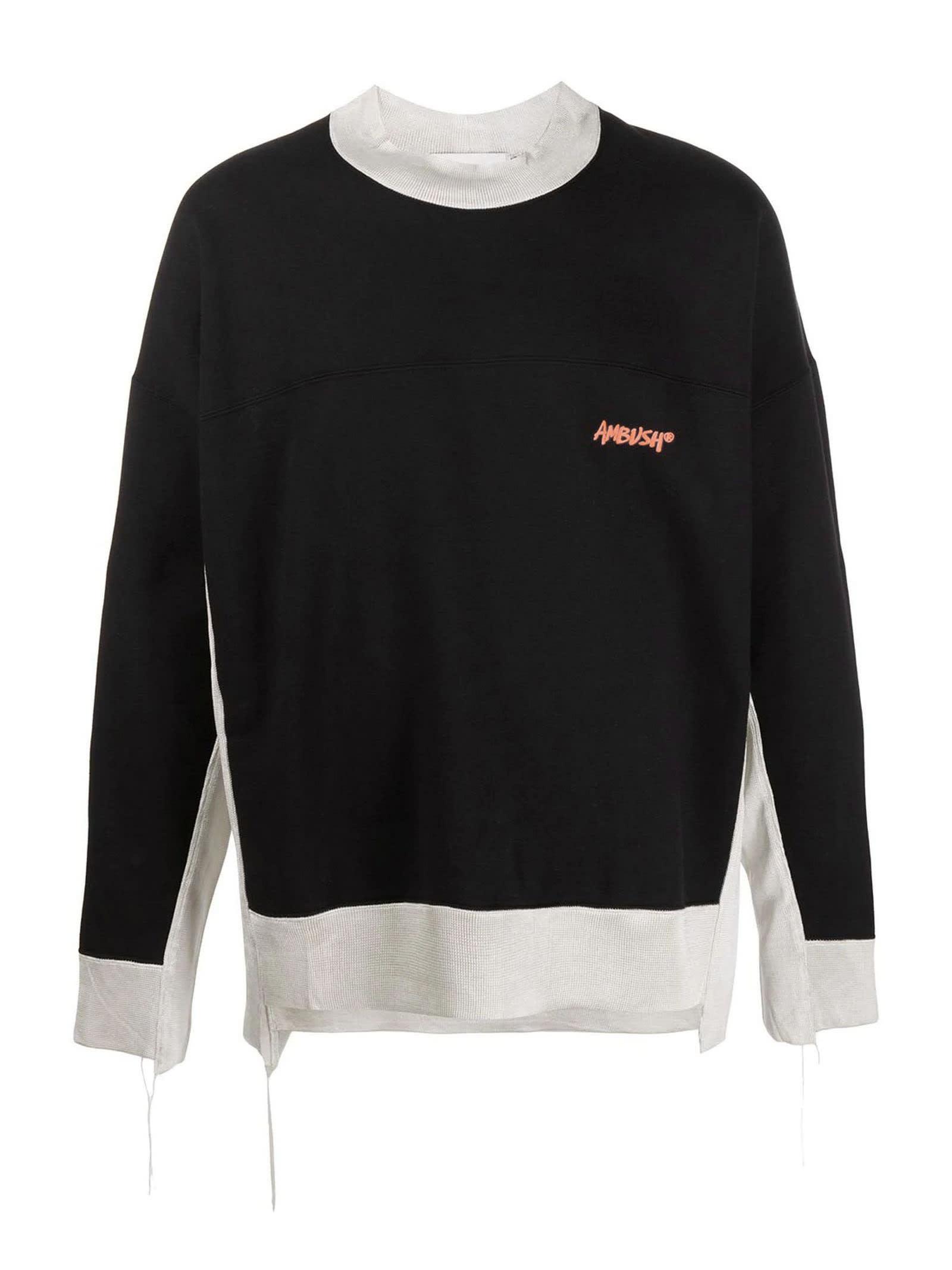 AMBUSH Black Cotton Blend Sweatshirt