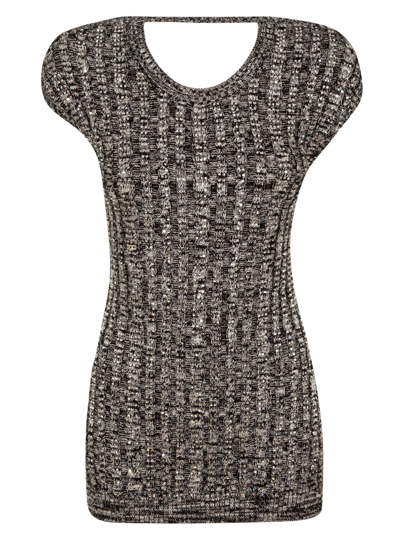 N.21 Ribbed Knit Exposed Back Top
