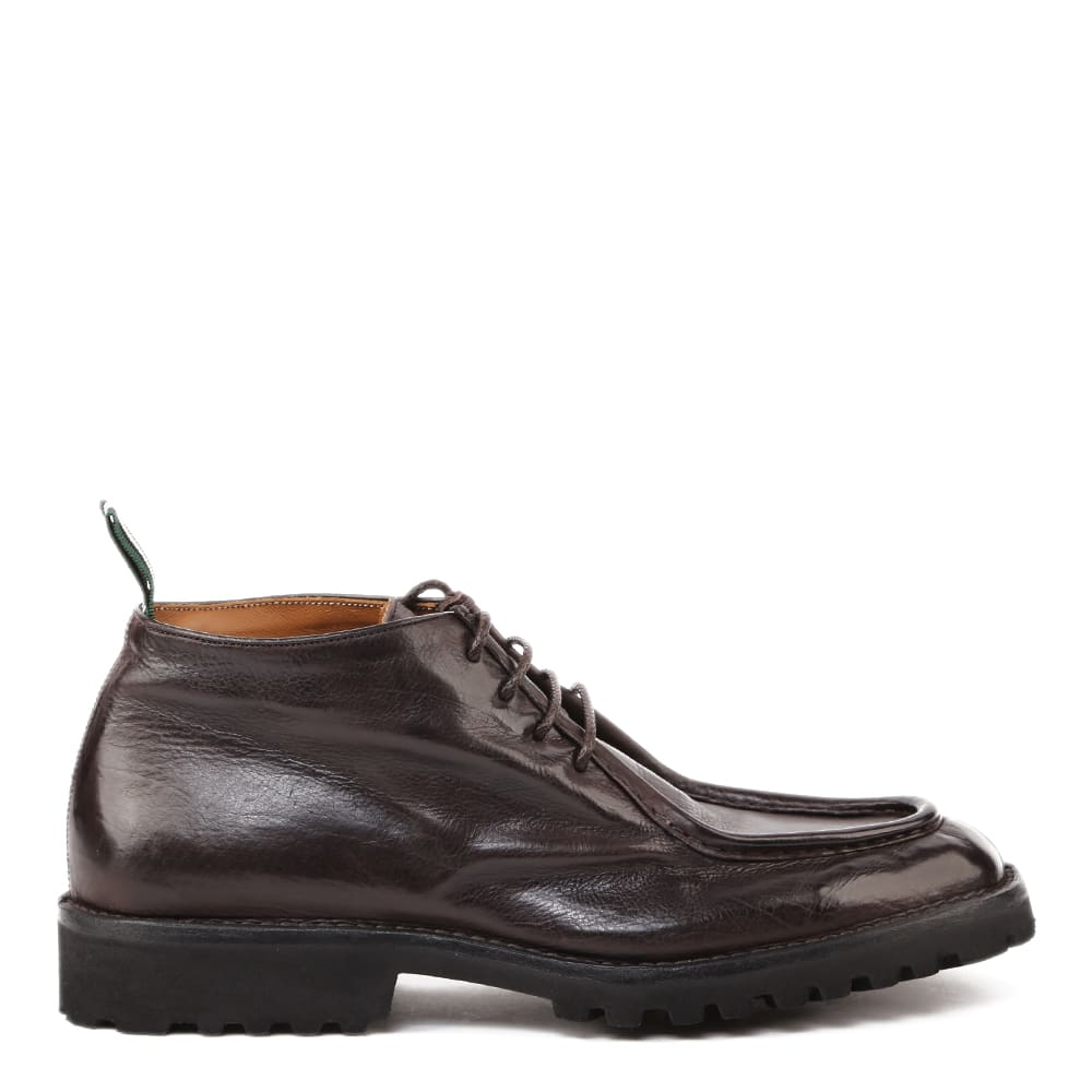 Lace-up Shoes In Used-effect Leather